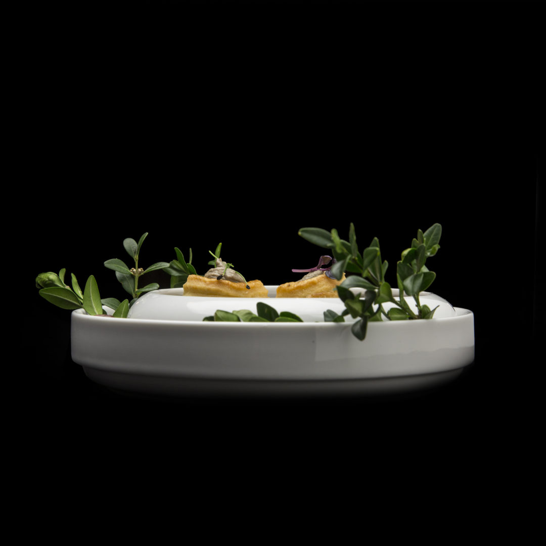 Šnek, sardel, kachní foie gras