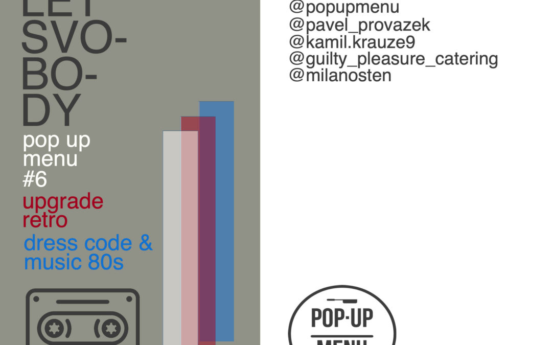 Pop up menu #6⎜30 let svobody⎜Uprgade retro